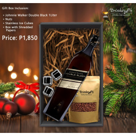 JOHNNIE WALKER DOUBLE BLACK 1L GIFT SET