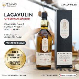 LAGAVULIN OFFERMAN EDITION AGED 11YRS GUINNESS CASK FINISH 750ML