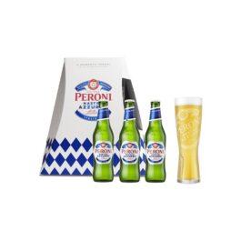 PERONI REGALO SET (3×330ML) 1 PERONI BEER GLASS